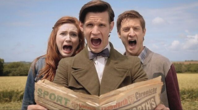 File:Doctor and the Ponds group scream.jpeg
