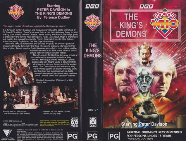 File:The King's Demons VHS Australian folded out cover.jpg