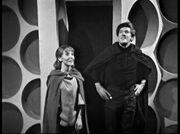 Vicki and Steven in Monks TARDIS