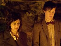 The Doctor and Nasreen find the Silurian city