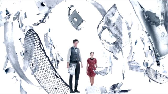 File:The Doctor and Clara in the heart of the TARDIS.jpg