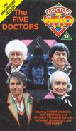 The Five Doctors VHS UK unedited cover