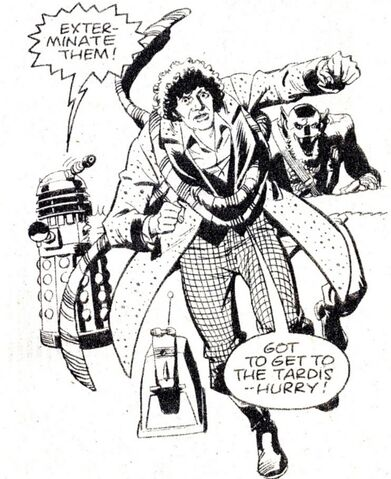 File:DWM 33 The Doctor and K9 Runs from the Daleks.jpg