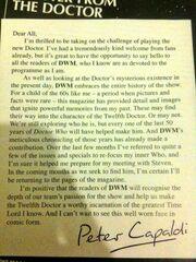 Peter Capaldi Letter DWM 464