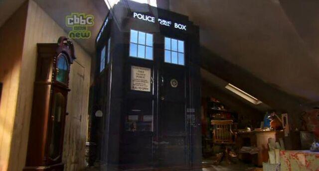 File:TARDIS in Sarah Janes attic.jpg