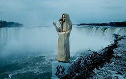 Niagara Falls Monk statue (TLOTL)