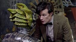 Silurian Unmasked & Interrogated - The Hungry Earth - Doctor Who - BBC