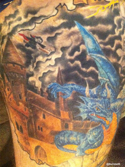Brent burns and the harry potter tattoo of awesome