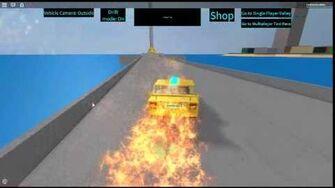 ROBLOX Taxi Simulator Random Electric Taxi's Engine Explosion