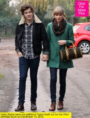 Taylor and Harry walking