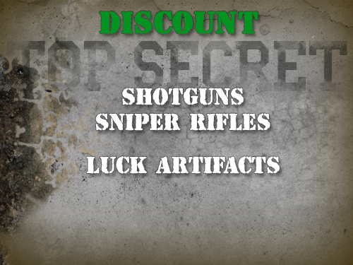 File:Shotguns, sniper rifles, artifacts discount.png