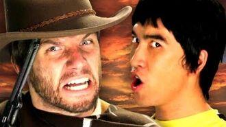 Bruce Lee vs Clint Eastwood. Epic Rap Battles of History Season 2.-0