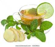 Stock-photo-ginger-tea-with-lime-and-mint-isolated-over-white-background-63429511-2