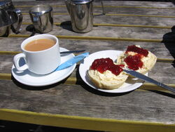 Cornish cream tea 2