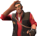 Sniper with the Ritzy Rick's Hair Fixative TF2.png