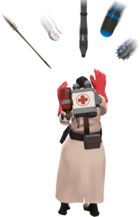 Medic going to get hit by projectiles TF2