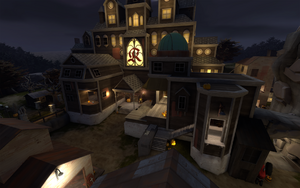 Mann Manor outside look of the manor TF2