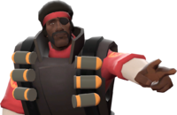 Demoman with the Demoman's Fro TF2