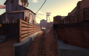 Gold Rush overlooking the tracks TF2