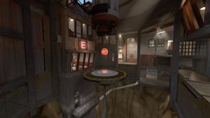 Steel inside RED base TF2
