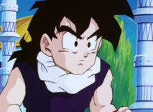 Gohan while waiting outside Hyberbolic Time Chamber