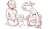 Baby Puddin and Dunplin struting