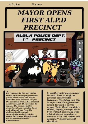 Larenti as mayor and his Police Cops