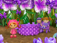 Purple polka-dot party