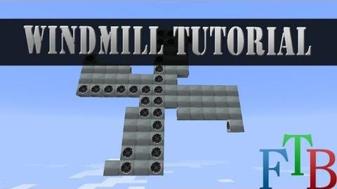 Minecraft Feed The Beast tutorial Wind mill power!