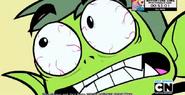Beast Boy's intense face