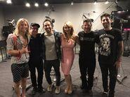 Greg Cipes & Tara Strong with Fallout Boy