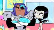 Cyborg annoyed