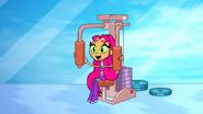 Starfire using a pec deck machine