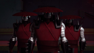 Trio Of Elite Foot Bots With Red Eyes