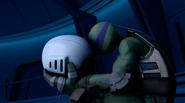 Donatello Sad At Fugitoid's Head