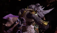 Bebop And Rocksteady Fighting Together
