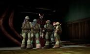 Splinter Talking With Turtles And April In Dojo
