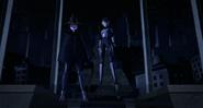 Shinigami And Serpent Karai Standing Up Straight