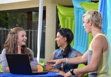 Ross and Chrissie with Hallie