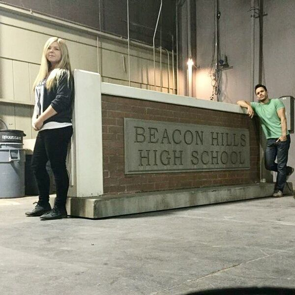 Teen Wolf Season 5 Behind the Scenes Megan and Daniel Wardrobe Dept 012715