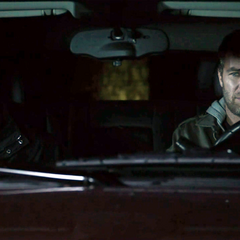 Just two older men sitting together in a car outside a gay bar
