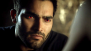 Teen Wolf Season 3 Episode 1 Tattoo Tyler Hoechlin Derek Hale Alpha Eyes