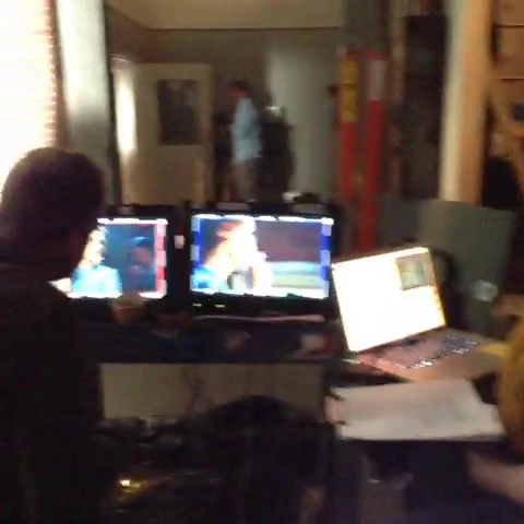 File:Teen Wolf Season 3 Behind the Scenes Checking out the Dailies.png