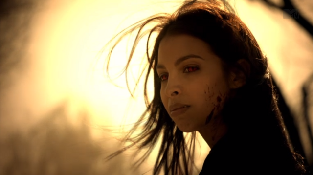 File:Teen Wolf Season 3 Episode 10 The Overlooked Felisha Terrell Kali looks at Jennifer.png