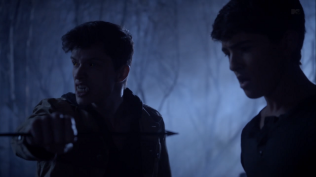 File:Teen Wolf Season 3 Episode 8 Visionary Ian Nelson Michael Fjordbak Young Peter saves Young Derek.png