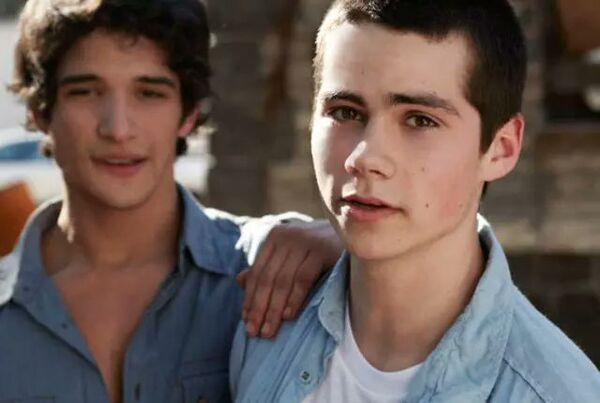 Tyler Posey and Dylan O'Brien on set of Teen Wolf 2010