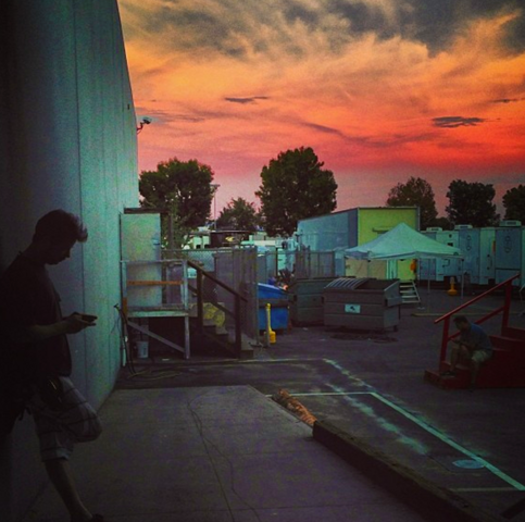 File:Teen Wolf Season 3 Behind the Scenes sunset at the studio.png