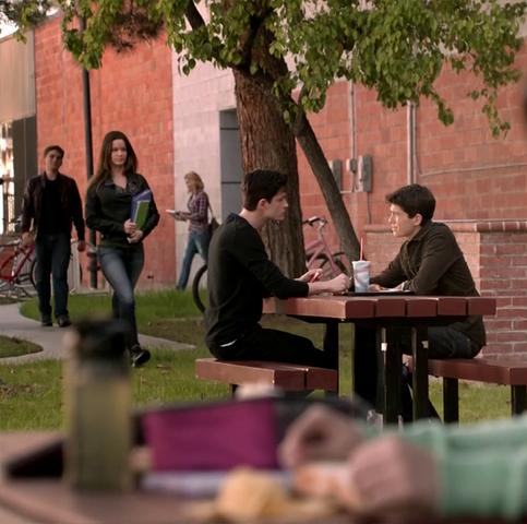 File:Teen Wolf Season 3 Episode 8 Visionary Ian Nelson Michael Fjordbak Young Peter Young Derek school lunch.png