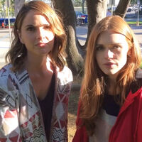 Teen Wolf Season 6 Behind the Scenes Pacific Pali high school location Shelley Hennig Holland Roden