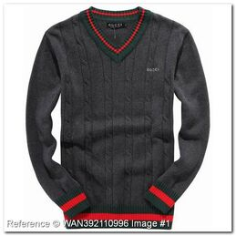 Wholesale-discount-gucci-sweater-v-neck-dark-gray-color-hb296ha-gucci-men-sweaters-gucci-sweaters